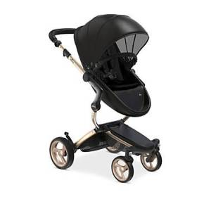 Mima Xari Stroller with Champagne Chassis  - Unisex - Black