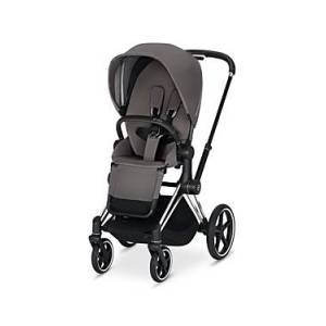 Cybex ePriam Electronic Assist Stroller with Chrome Black Frame  - Unisex - Gray