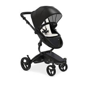 Mima Xari Stroller with Black Chassis  - Unisex - Silver/Black