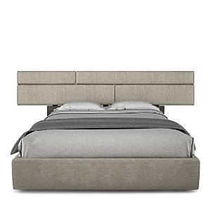 Huppe Plank Upholstered Platform Queen Bed