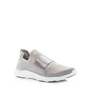 Apl Athletic Propulsion Labs Women's Techloom Bliss Low-Top Sneakers  - Female - Cement/White - Size: 10
