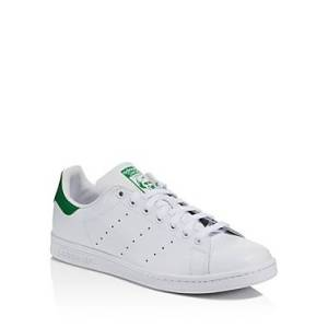 Adidas Men's Stan Smith Leather Low-Top Sneakers  - Male - White/Green - Size: 8