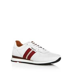 Bally Men's Aston Leather Low-Top Sneakers  - Male - White - Size: 6UK / 7US