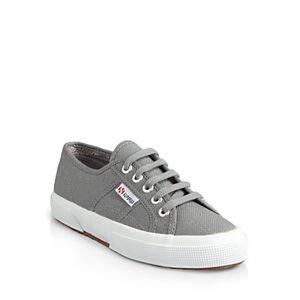 Superga Women's Classic Low Top Sneakers  - Grey Sage - Size: 6.5 US / 37 EU