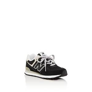 New Balance Unisex 574 Low-Top Sneakers - Toddler, Little Kid  - Unisex - Black/gray - Size: 12T (Toddler)
