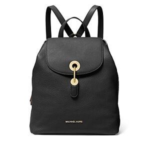 Michael Michael Kors Raven Medium Leather Backpack  - Female - Black/Gold