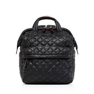 Mz Wallace Small Top Handle Backpack  - Female - Black