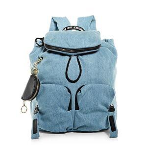 See by Chloe Joy Rider Medium Denim Backpack  - Female - Denim