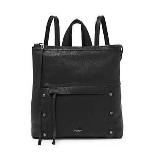 Botkier Noho Leather Backpack  - Female - Black/Gunmetal