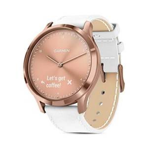 Garmin Vivomove Hr Rose Gold Touchscreen Hybrid Smartwatch, 43mm