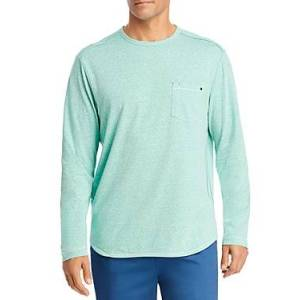 Tommy Bahama Bodega Cove Performance Long Sleeve Tee  - Male - Spring Pool - Size: Small