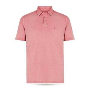 John Varvatos Star Usa John Varvatos Star Knoxville Peace Embroidered Slim Fit Polo Shirt  - Male - Antique Pink - Size: Extra Large