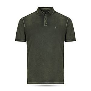 John Varvatos Star Usa John Varvatos Star Knoxville Peace Embroidered Slim Fit Polo Shirt  - Male - Dark Moss - Size: Small