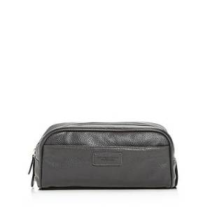 The Men's Store at Bloomingdale's Leather Toiletry Kit - 100% Exclusive  - Male - Gray