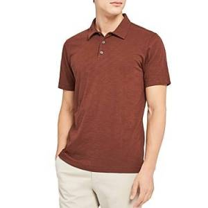 Theory Bron Regular Fit Polo Shirt  - Male - Pimento - Size: Extra Large