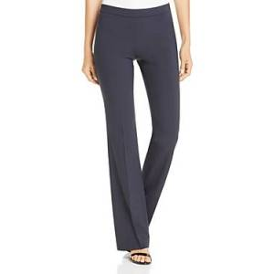 Boss Tulea Fundamental Side-Zip Bootcut Pants  - Female - Navy - Size: 4