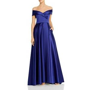 Avery G Satin Off-the-Shoulder Gown - 100% Exclusive  - Female - Royal - Size: 2