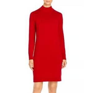 Boss Fabelletta Long Sleeve Turtleneck Dress  - Female - Bright Red - Size: Extra Small