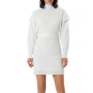 Herve Leger Metallic Sweatshirt Mini Dress  - Female - Alabaster - Size: Small