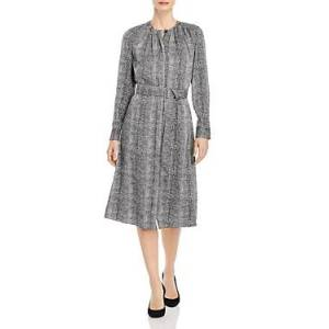 Boss Dibanora Belted Dress  - Female - Charcoal Multi - Size: 14
