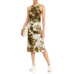 Aqua Tie Dyed Knit Midi Dress - 100% Exclusive  - Female - Olive - Size: Medium