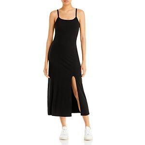 Aqua Sleeveless Midi Dress - 100% Exclusive  - Black - Size: Large