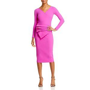 Chiara Boni La Petite Robe Kaya Draped Sheath Dress - 100% Exclusive  - Female - Pink Lady - Size: 14