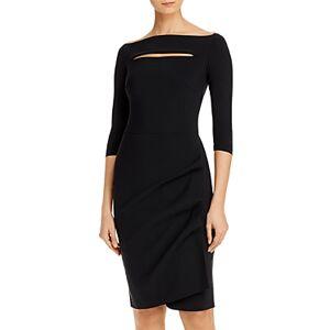 Chiara Boni La Petite Robe Kate Boat Neck Sheath Dress  - Female - Black - Size: 14