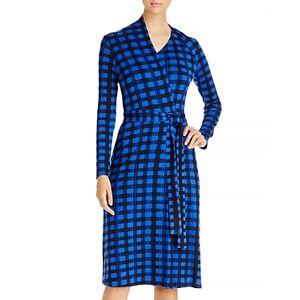Boss Ettay Printed Wrap Dress  - Female - Blue - Size: Extra Small