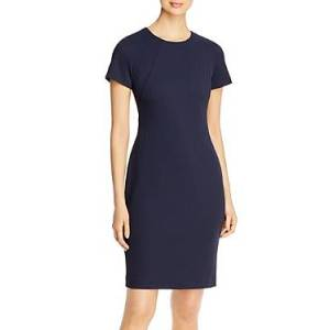 Boss Dijersa Short-Sleeve Dress  - Female - Blue - Size: 2