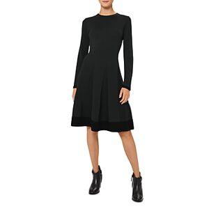 Hobbs London Sarah Pleated Skirt Dress  - Female - Pine Green - Size: 18 UK/14 US