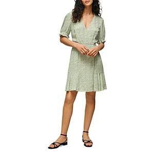 Whistles English Garden Wrap Dress  - Female - Green Multi - Size: 18 UK/14 US