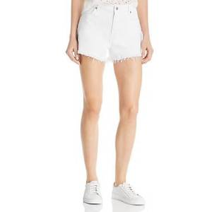 7 For All Mankind Cutoff Denim Shorts in Clean White  - Female - Clean White - Size: 25