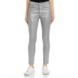 Ag Farrah Ankle Skinny Jeans in Leatherette Chrome-Cast Iron  - Female - Leatherette Chrome-cast Iron - Size: 23