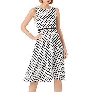 Hobbs London Adeline Dress  - Female - Ivory/Black - Size: 18 UK/14 US