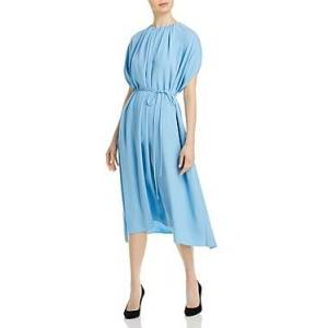 Boss Dibanty Belted Midi Dress  - Female - Dusk Blue - Size: 14