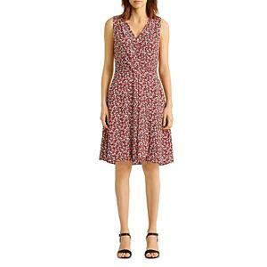 Ralph Lauren Lauren Ralph Lauren Floral Print Wrap Style Dress  - Female - Navy Red - Size: 18