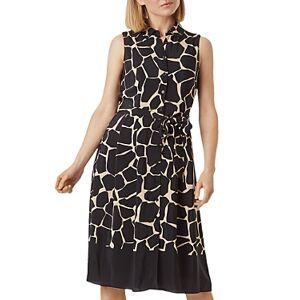 Hobbs London Suzanna Shirt Dress  - Female - Black/Neutral - Size: 18 UK/14 US