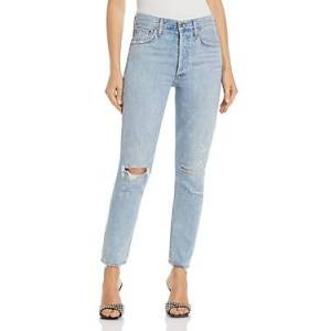 Agolde Jamie High Rise Tapered Jeans in Shakedown  - Female - Shakedown - Size: 24