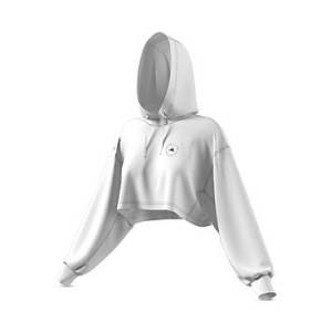 adidas by Stella McCartney Cropped Hoodie  - Female - White - Size: Medium