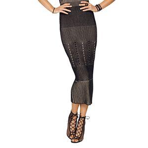 Ramy Brook Lisa Midi Skirt  - Female - Black/Sand - Size: Medium