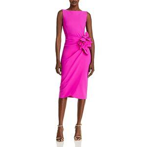Chiara Boni La Petite Robe Glenaly Flower-Applique Dress - 100% Exclusive  - Female - Pink Lady - Size: 6