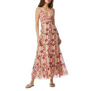 Alice and Olivia Karolina Braided Strap Printed Maxi Dress  - Female - Vintage Market - Size: 14