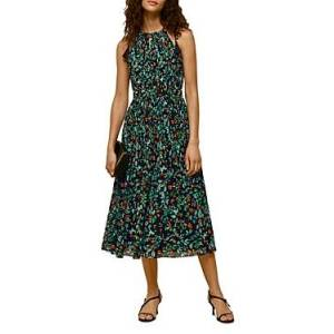 Whistles Forrest Floral Halter Dress  - Female - Blue Multi - Size: 18 UK/14 US