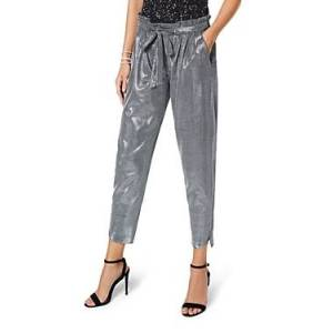 Ramy Brook Allyn Chainmail Knit Pants  - Female - Silver - Size: Small