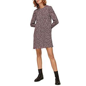 Whistles People Georgina Printed Dress  - Female - Burgundy - Size: 18 UK/14 US