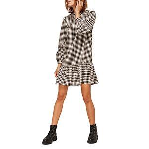 Whistles Gingham Shift Dress  - Female - Brown Multi - Size: 18 UK/14 US