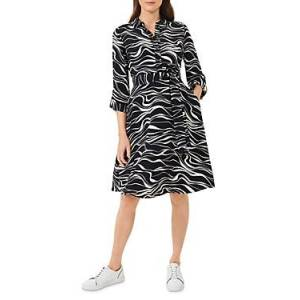 Hobbs London Clarice Shirt Dress  - Navy Butter - Size: 18 UK/14 US