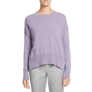 Theory Karenia Cashmere Sweater  - Female - Iris Melange - Size: Medium