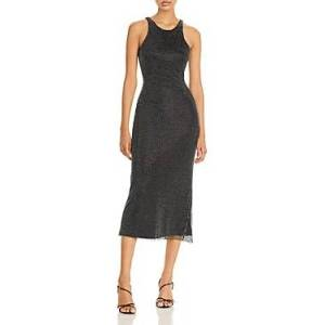 David Koma Crystal Mesh Layer Midi Dress  - Female - Multi - Size: 6 UK/2 US